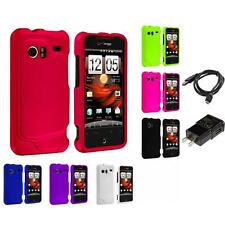 Color Hard Snap-On Rubberized Case for HTC Droid Incredible 6300 Charger