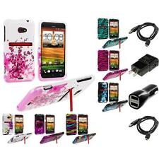 Design Hard Snap-On Case for 2X Chargers HTC EVO 4G LTE Sprint Phone