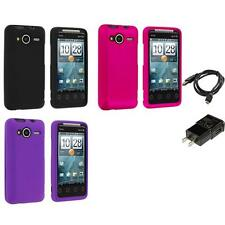 Color Hard Snap-On Skin Case for HTC EVO Shift 4G Phone Charger