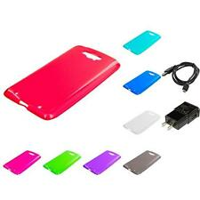 For Motorola Droid Turbo TPU Rubber Transparent Skin Case Clear Charger
