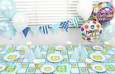 BLUE BEAR TABLEWARE BOY BIRTHDAY, BABY SHOWER PARTY SUPPLIES DECOR TABLECLOTH