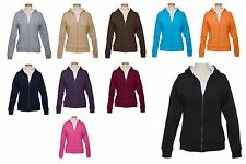 LADIES ZIP UP, FLEECE, MID-WEIGHT HOODIE, FULLY THERMAL LINED, S M L XL 2X