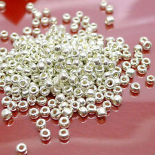 Lots 500/1000Pcs Silver Plated Charm Metal Loose Spacer Beads Findings Craft 2MM