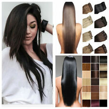 """Real 15"""" 18"""" 20"""" 22""""24"""" 7PCS Clip In Remy Top Human Hair Extensions 70g 80g 100g"""