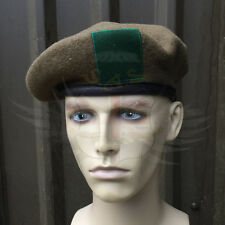 NEW KANGOL BRITISH ARMY SURPLUS ISSUE 100% WOOL, LEATHER BAND KHAKI GREEN BERET