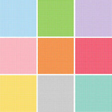 Basic Gingham Squares 100% Quality Cotton Quilting Patchwork Fabric (Makower)