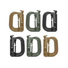 Tactical Grimloc Molle Webbing Buckle Safety Locking D-ring Carabiner Hook Clip