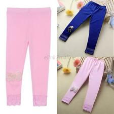 2-7Y Baby Kids Girls Bowknot Leggings Ballet Dance Tight Pants Stretchy Trousers