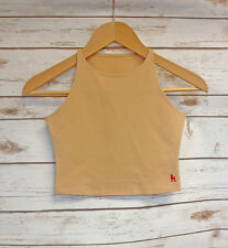 Nude American Apparel Crop Top Official Fitted Short Vest Ladies S - L ROR