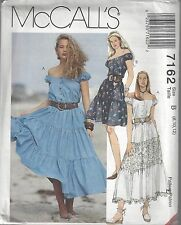 McCalls Sewing Pattern # 7162 Misses Tiered Dress in Two lengths Choose Size
