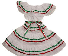 ASSORTED SIZES GIRLS GYPSY PEASANT MEXICAN LACE DRESS CINCO DE MAYO FIESTA