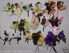 2pcs Corsage & Boutonniere Set with Brown flowers Many choices to choose from