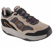 57501 Taupe Skechers Shoes Shape Ups New Men Memory Foam Fitness Walker Comfort