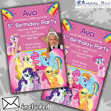 My Little Pony Invites Personalised Children's Birthday Party Invitations x 5