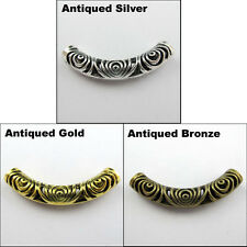 1 New Charms Tibetan Silver Gold Bronze Tone Tube Spacer Beads 14x52.5mm