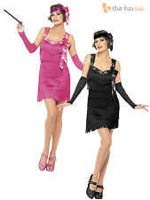 Size 8 -10 Ladies Pink Flapper Costume Sexy Charleston 1920's Fancy Dress Womens