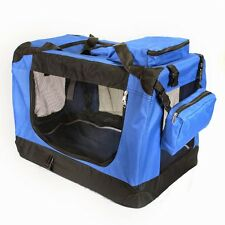 Pet Carrier Crate Portable Dog New 20in x 14in  x 14in Blue Steve Kaeser