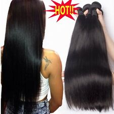 7A Brazilian Indian Virgin Human Hair Extensions Straight/Body Wave 100-300G T87