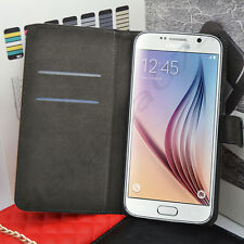 Genuine Real Leather Flip Case Wallet Cover for Samsung Galaxy Models SAME DAY D