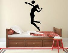 """Volleyball Wall Decal -45"""" x 26"""" Volley Player Silhouette - Volleyball Player 1"""