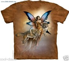 Native Wolf Butterfly Fairy T-Shirt/Tie Dye Fantasy Fairy Art Claire Bertam