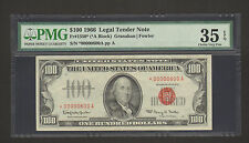 $100 1966 Red Seal Legal Tender Note *00000600A PMG Choice Very Fine 35 EPQ