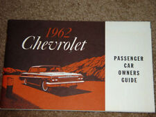 1962 Chevrolet Impala SS Factory GM Original First Edition Owners Manual MINT !!