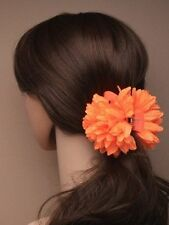 Brightly Coloured  Ruffle Fascinator Coloured Fabric Flower Claw Clamp