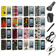 Design Color Hard Snap-On Rubberized Case Cover+Accessories for iPhone 5 5S
