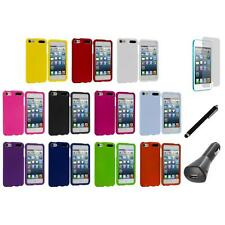 Color Snap-On Hard Rubberized Case+LCD+Charger+Pen for iPod Touch 5th Gen 5G 5