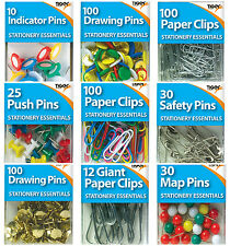 Push, indicator, drawing , safety Pins paper-clips Colours & Assorted sizes
