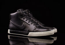 MEN'S NIKE AIR ROYAL MID VT SHOES BLACK LEATHER WHITE SOLE 395757-005 All Sizes