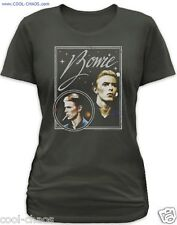 David Bowie T-Shirt / Juniors Size S-2X-David Bowie Sound Vision New Wave Tee