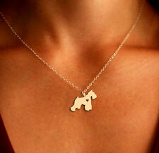 Schnauzer Pendant Necklace - Gold or Silver - Ships from the USA!