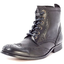 H by Hudson Angus Mens Leather Black Boots New Shoes All Sizes