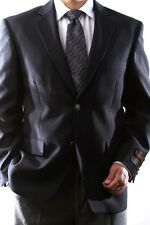 MENS SINGLE BREASTED 2 BUTTON NAVY BLAZER BIG & TALL, PL-J60212C-NAV