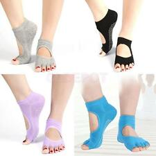 Sport Dance/Yoga Comfort Womens Girls Non-Slip Half Toe Pilates Ankle Grip Socks