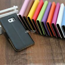 For Apple iPhone Genuine Real Leather Flip Case Cover Stand Wallet Card Holder
