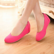 Womens Fashion Round Toe Wedges Hidden Heel Mary Janes Summer Casual Pumps Shoes