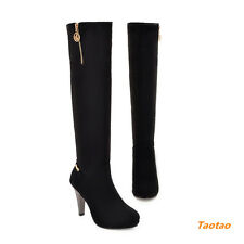 Fashion Women' High Heel Zip Knee-High New Cute Stlye Boots AU All Size TB1000