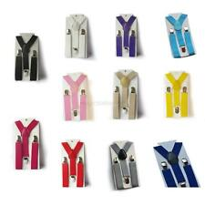 Toddler Elastic Adjustable Braces Boys Girls Solid Clip on Y Back Suspenders M58