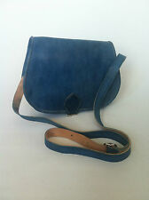 Moroccan Handcrafted Blue leather Saddle Bag