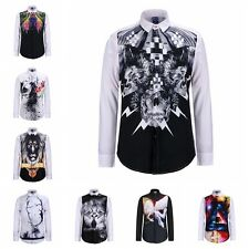 Hot Men Shirt Slim Fit Long Sleeve stylish Fashion Casual Dress Shirt TShirt Tee