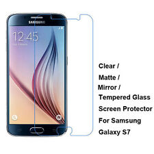 Clear/Matte/Mirror/Tempered Glass Screen Protector For Samsung Galaxy S7 G9300