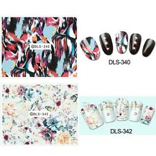 1sheet Nail Art Water Decals Showy Flowers Nail Water Transfer Stickers