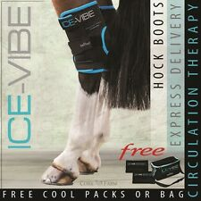 Horseware ICE VIBE HOCK BOOTS Cool Vibrating Circulation Therapy Wraps