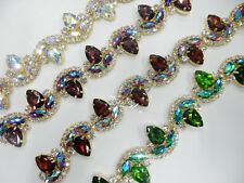 one yard costume applique crystal rhinestone trims B801