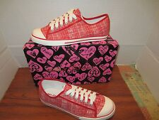GIRLY GIRL KEIRA RED CANVAS SNEAKER TENNIS SHOES DIFFERENT SIZES TO CHOOSE FROM