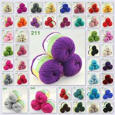 Sale New 3 Skeins x50g Worsted Soft Warm Wool Rainbow Chunky Hand Knitting Yarn