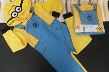 Despicable Me***MINIONS***Boys Hooded Fleece Onesie Fancy Dress New Packed BNWT